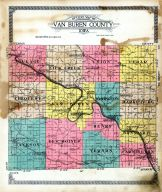 County Outline, Van Buren County 1918